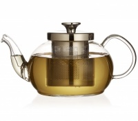 Zenshi Glass Teapot with Stainless Steel Infuser & Coil Filter 800ml