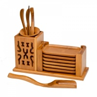 Bamboo Tea Utensils Set
